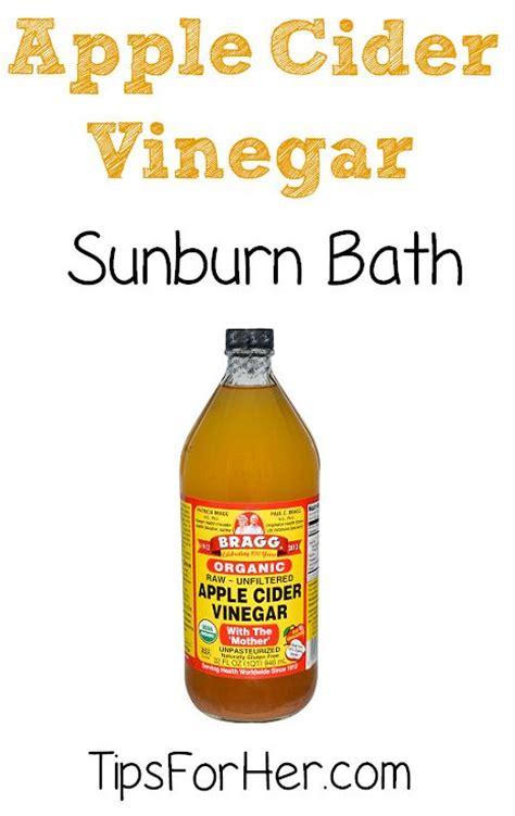 Does A Shower Help A Sunburn by Apple Cider Vinegar Sunburn Bath A Simple And Effective