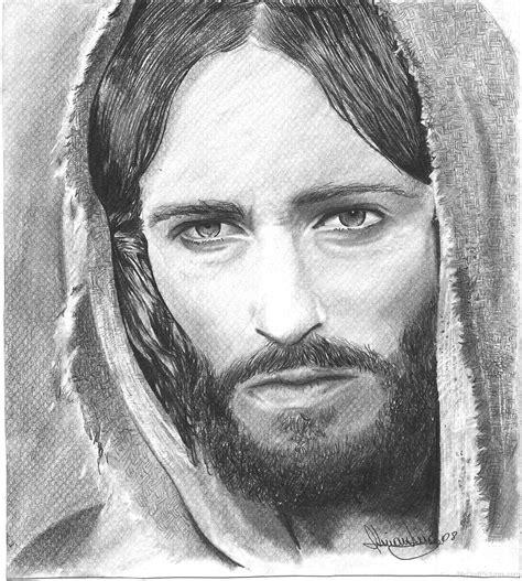 amazing pencil portraits lord jesus god pictures