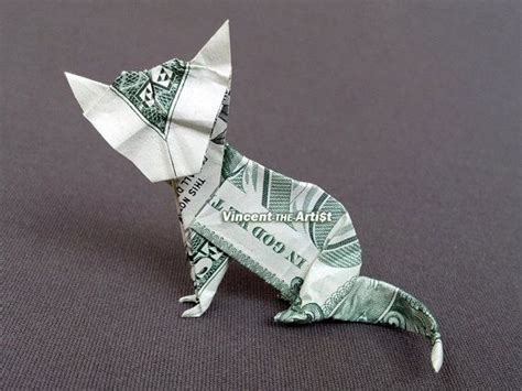Dollar Origami Cat - 1128 best money dollar origami images on money