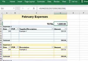 Monthly Expense Sheet Excel Template by Sle Business Expense Sheet For Excel