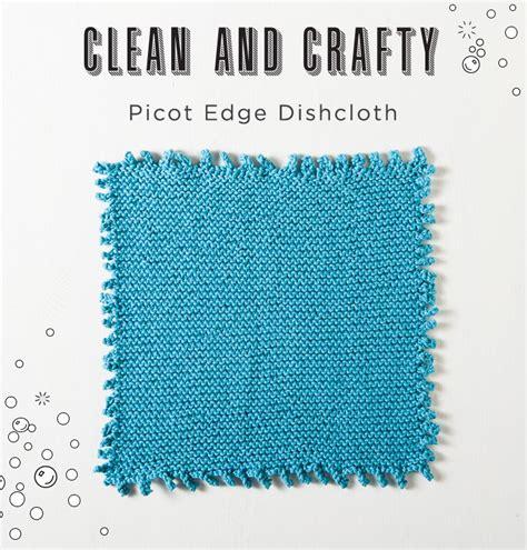 picot edge knitting picot edge dishcloth knit picot pattern by weaver