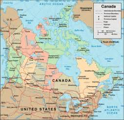 political map canada map of canada political