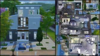 floor plan modern house sims 4 houses floor plans modern house