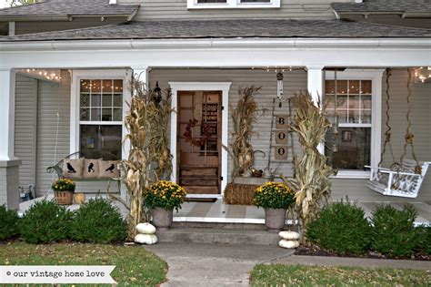 our vintage home fall porch ideas