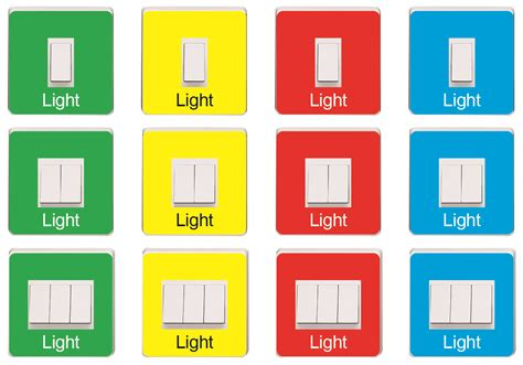 coloured light switch coloured light switch covers recogneyes care home and