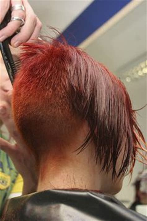 redhair nape shave inverted bob s on pinterest inverted bob asymmetric bob