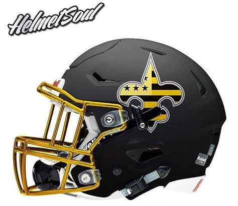 design a riddell helmet new orleans saints concept football helmet design on a