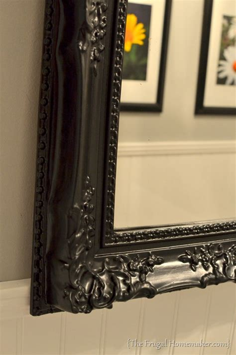 spray painted gold yard sale mirror how to spray paint a