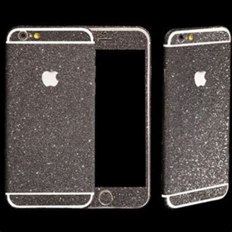 Gelitar Iphone 6 black glitter sticker skin iphone 6 iphone 6 plus iphone 5