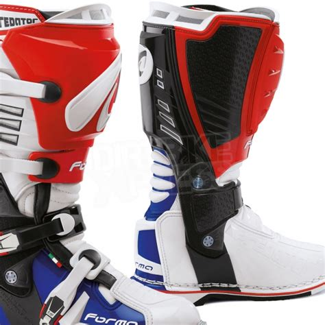 blue motocross boots forma predator boot blue white dirtbikexpress