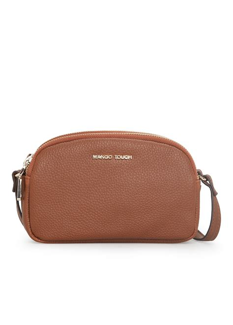 Mango Mini Bag Original mango compartment mini bag in brown lyst