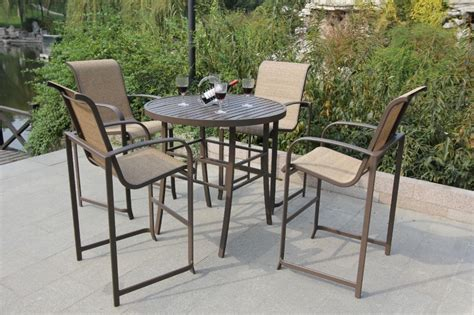 Outdoor Patio Furniture Bar Sets Bar Height Patio Furniture In Outdoor Spaces Home Outdoor