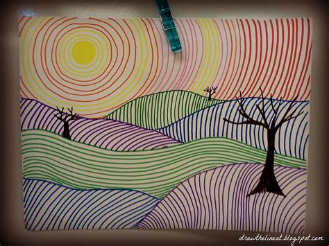 Drawing 7 Lines by Line Landscapes Draw The Line At For My Class