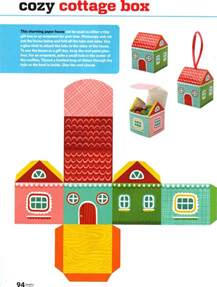 Printable Paper Crafts - free printable paper house box free printables and more