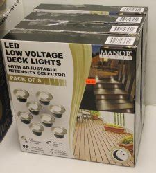 manor house low voltage lighting 4 boxes manor house led low voltage deck lights 007270