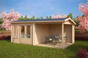 gartenhaus veranda gartenhaus mit terrasse nora d 9m 178 44mm 3x6