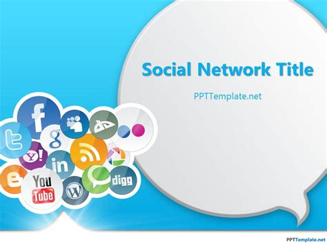 network templates for powerpoint free download free social media ppt template