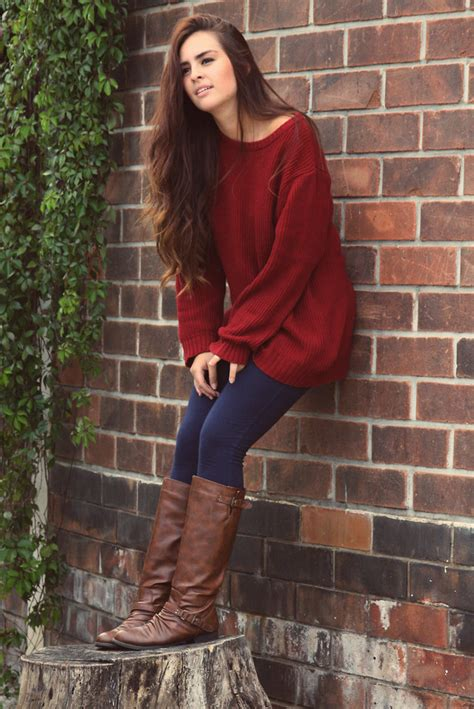 pintrist cute womans outfits cute fall outfits with burgundy sweater fashion women