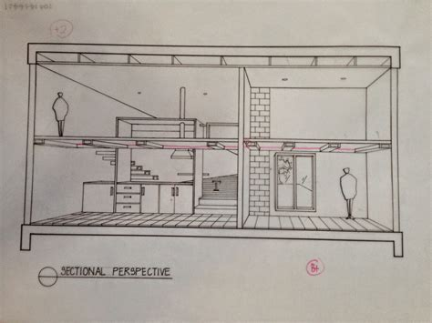 section perspective drawing kahwen sectional perspective