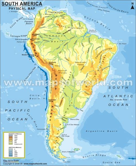 south america physical map unit 2 maps and capitals secci 243 n biling 252 e