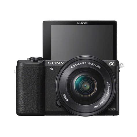Kamera Mirrorless Sony Alpha A5100 jual sony alpha a5100 black kit 16 50mm kamera mirrorless a5100 harga kualitas