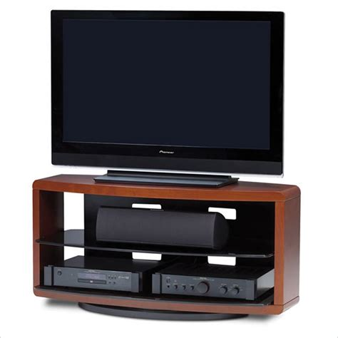 Rotating Tv Stand With Shelf by Valera Wide 3 Shelf Swivel Tv Stand In Cherry 9724 Ch