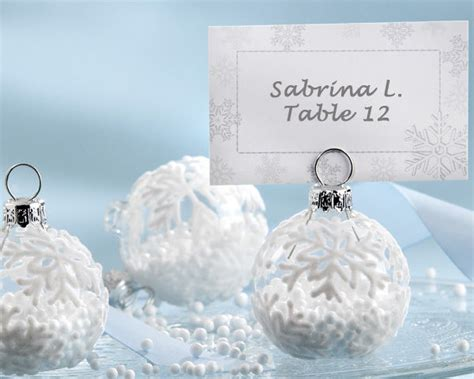 36 winter snowflake holiday ornament place card photo