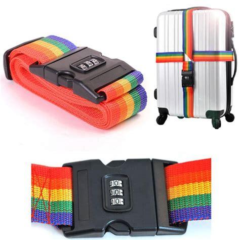 Luggage Belt Luggage Straps aliexpress buy tsa luggage lock minorder rainbow