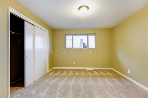 pareti verdi da letto nuova da letto vuota con le pareti verdi interne