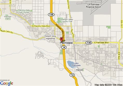 map of inn palmdale lancaster palmdale