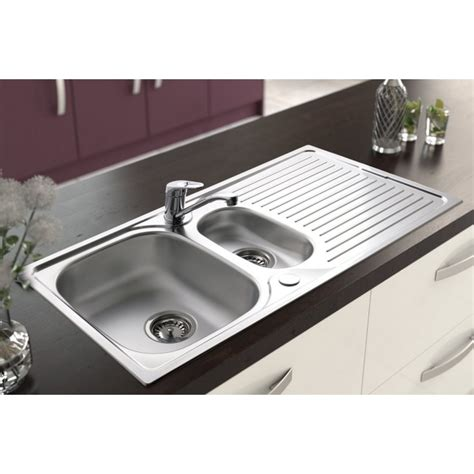 Sinks And Taps Stainless Steel Inset Sink And Tap One And A Half