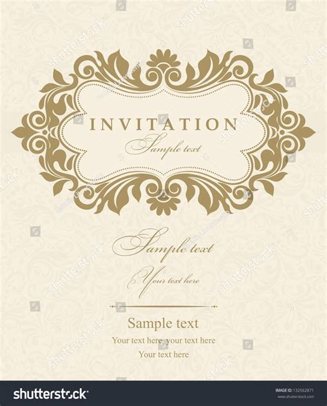 vector wedding invitations wedding invitation cards baroque style gold stock vector