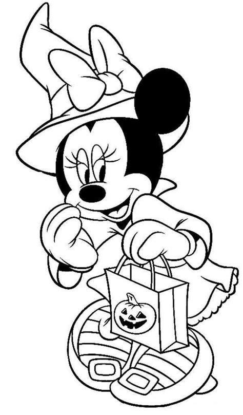 minnie mouse halloween coloring pages disney halloween coloring pages getcoloringpages com