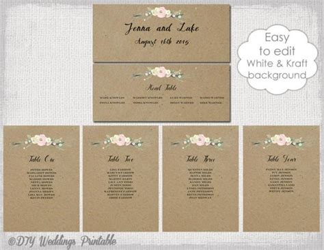table plan cards template rustic seating chart template printable seating chart
