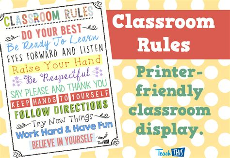 printable poster classroom rules how to write a self evaluation 50 self evaluation exles