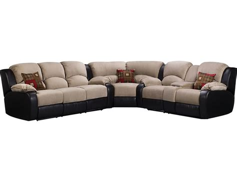 the brick leather sectional tyson 3 piece mocha sectional tyson3pk3 the brick