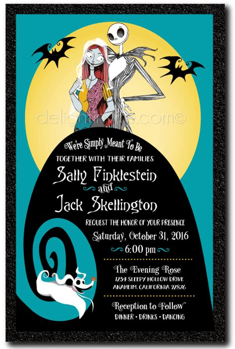 The Nightmare Before Wedding Invitations nightmare before wedding invitations di 5050