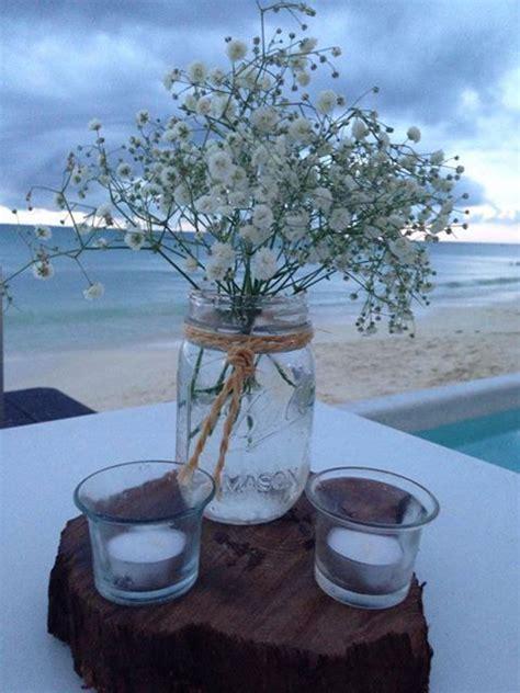 floreros con nube cbv115 riviera maya weddings bodas mason jar with baby