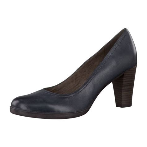 22401 22 navy leather court shoe