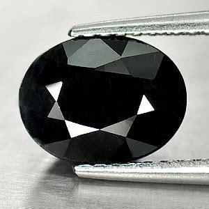Black Saphire oval black sapphire
