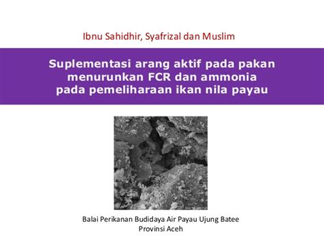 Ragi Untuk Suplemen Pakan Ternak serbuk arang aktif sebagai suplemen pakan untuk ikan nila