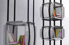 suspended bookshelves reader friendly couches ramsa sofa
