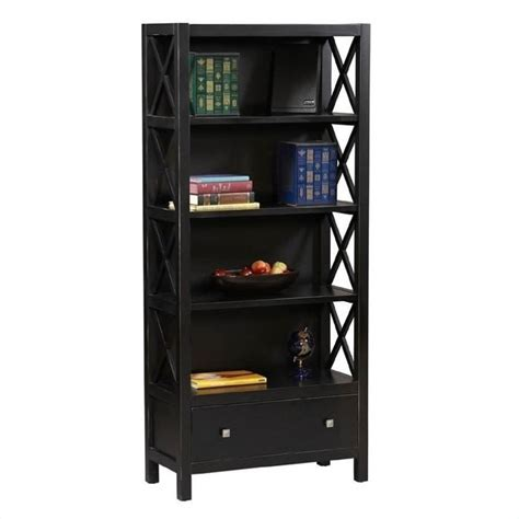 Black Bookshelf 5 Shelf Bookcase In Antique Black K86103c124
