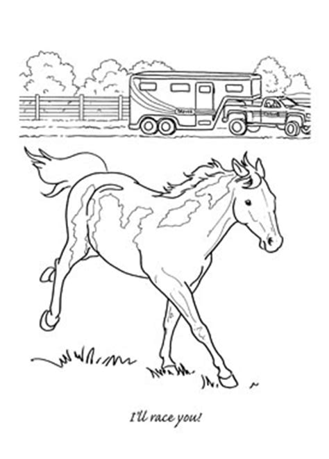 coloring pages horse trailer pinterest the world s catalog of ideas