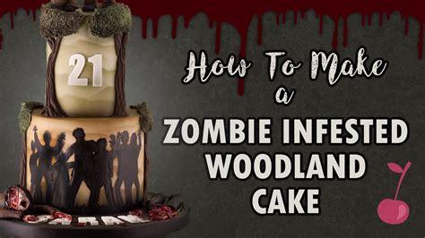 zombie cake tutorial zombie infested woodland cake tutorial how to cherry