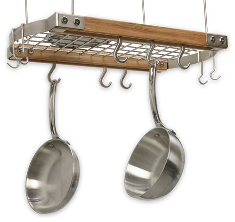Ceiling Pot Rack Mini Ceiling Oval Pot Rack Traditional Pot