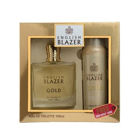 english blazer gift set gold