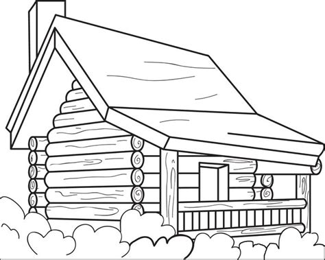 Log Cabin Coloring Page log cabin coloring page coloring home