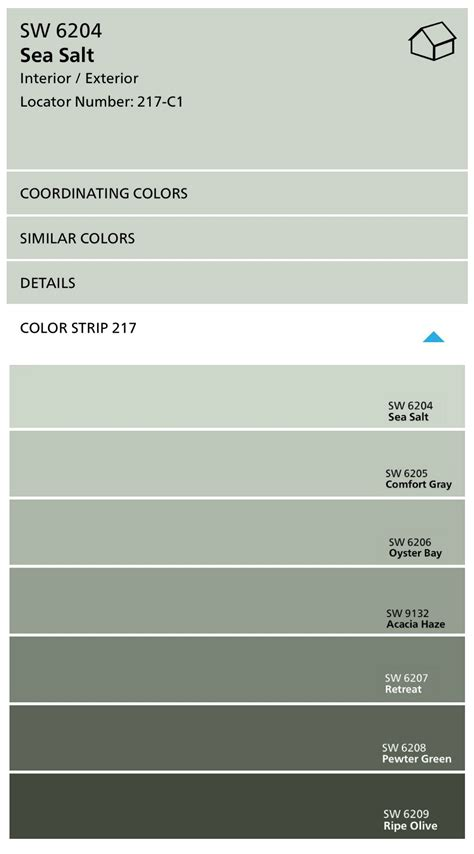 sherwin williams sea salt coordinating colors sherwin williams sea salt color spotlight