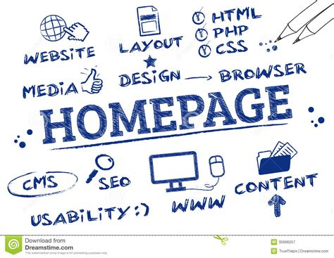 doodle poll homepage homepage concept stock image image of browser